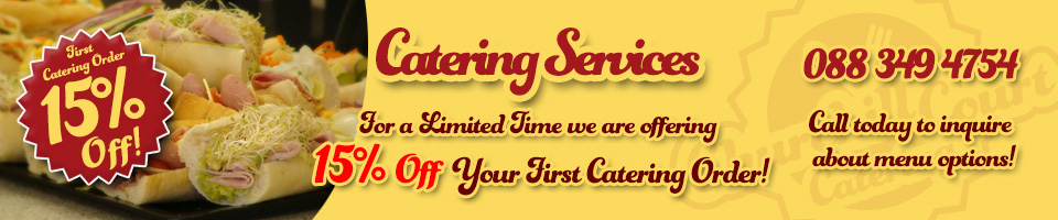 Churchill Court Corporate Catering discount for first order
