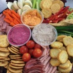 Dip platters from Churchill Court Corporate Catering